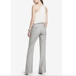 NEW Express Editor Flare Low Rise Wide Waistband